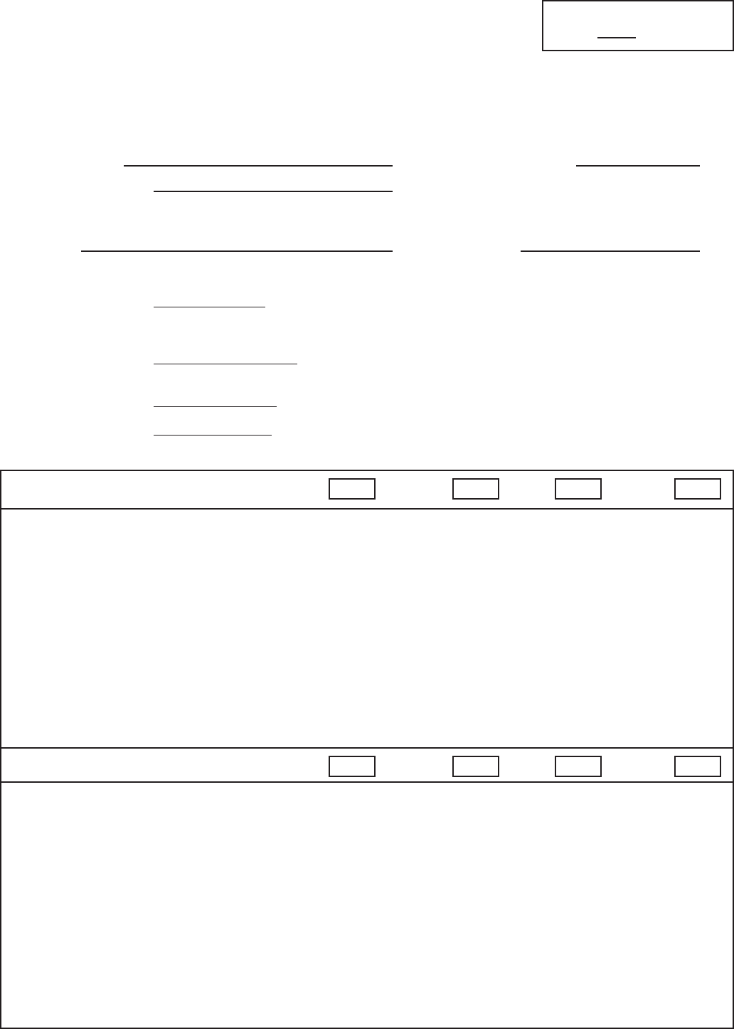 Teacher Evaluation Form 1