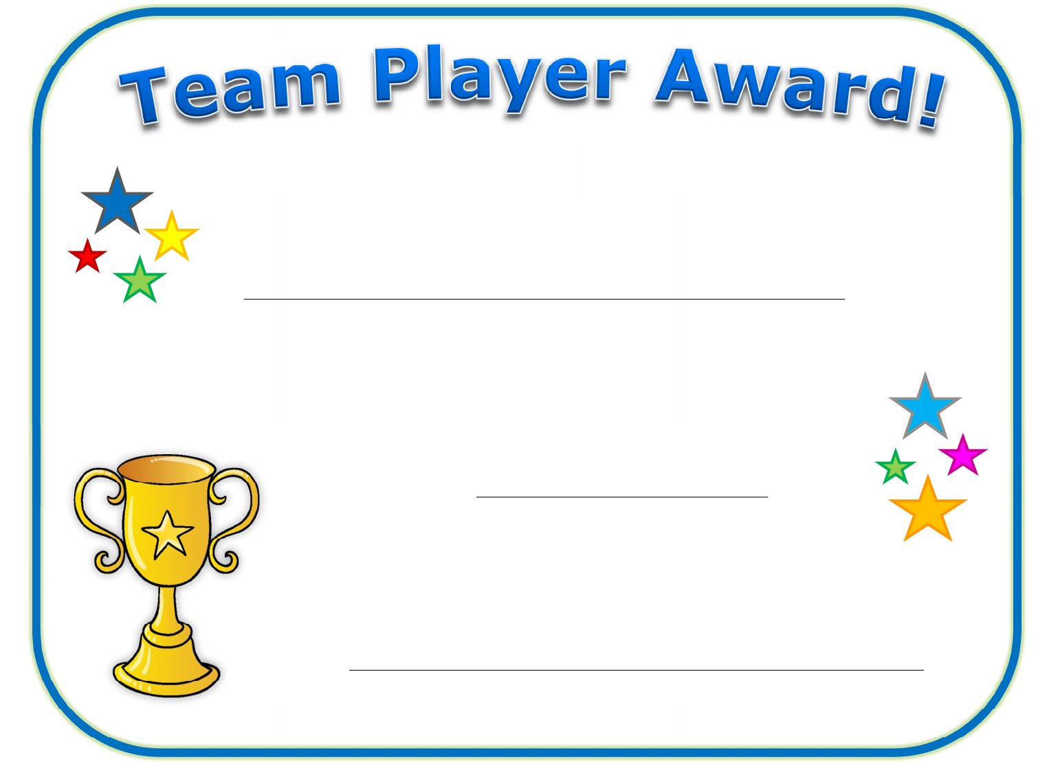 Download Team Player Certificate For Free Tidyform