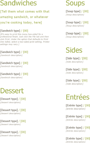 Takeout Menu Template 2